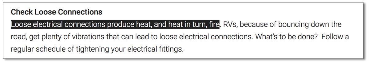 RV electrical wiring tip
