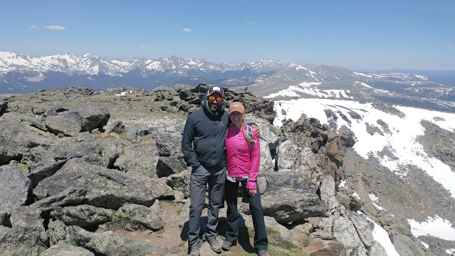 Julie and Reet Hiking Rocky Mountain NP